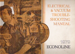 1979 Ford Econoline Van Factory Electrical and Vacuum Troubleshooting Manual