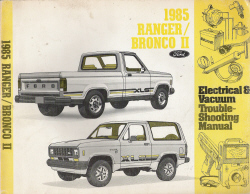 1985 Ford Ranger / Bronco II Electrical & Vacuum Trouble Shooting Manual (EVTM)