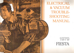 1979 Ford Fiesta Factory Electrical Troubleshooting Manual