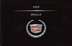 2004 Cadillac Deville Owner's Manual