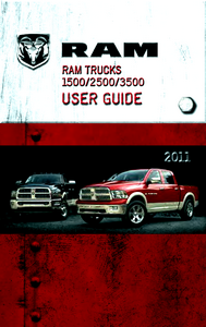 2011 Dodge Ram 1500, 2500, 3500 Owner's Manual Kit