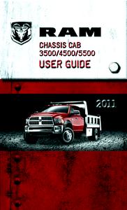 2011 Dodge Ram Chassis Cab 3500, 4500, 5500 Owner's Manual Kit
