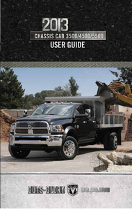 2013 Dodge Ram Chassis Cab 3500, 4500, 5500 Owner's Manual Kit