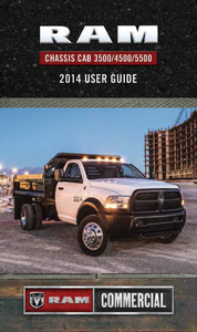 2014 Dodge Ram Chassis Cab  3500, 4500, 5500 Owner's Manual Kit