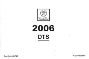 2006 Cadillac DTS Factory Owner's Manual
