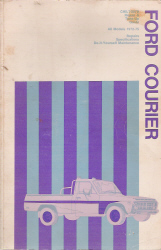 1972 - 1975 Ford Courier Chilton's Repair &Tune-Up Guide