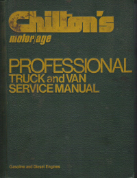 1970 - 1976 Chilton's Truck & Van Service Manual & Labor Guide