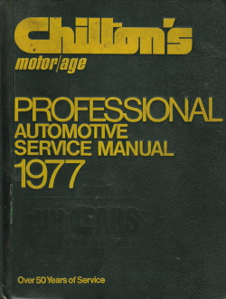1971 - 1977 Chilton Automotive Service Manual