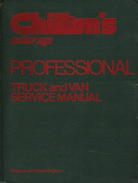 1971 - 1978 Chilton's Truck and Van Service Manual & Labor Guide