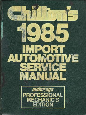 1987 - 1991 Chilton's Import Auto Service Manual, Shop Edition