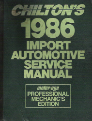 1979 - 1986 Chilton's Import Auto Service Manual, Shop Edition