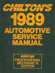 Chilton 1985 - 1989 Automotive Service Manual