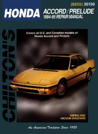 1984 - 1995 Honda Accord and Prelude Chilton's Total Car Care Manual
