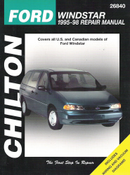 1995 - 1998 Ford Windstar Chilton's Total Car Care Manual