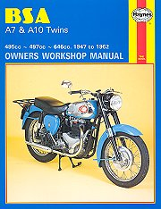 1947 - 1962 BSA A7, A10 Twin Haynes Repair Manual