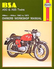 1962 - 1973 BSA A50, A65 Twins Haynes Repair Manual