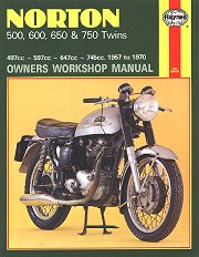 1957 - 1970 Norton Manxman, Atlas, Sports Special, G15, P11 Hanyes Repair Manual