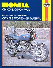 1973 - 1977 Honda CB400, CB550 Haynes Repair Manual