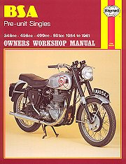 1954 - 1961 BSA Pre-Unit Singles Haynes Repair Manual
