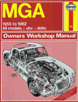 1955 - 1962 MGA Haynes Owners Workshop Repair Manual