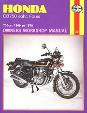 1969 - 1979 Honda CB750 SOHC Fours Haynes Repair Manual