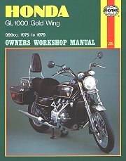 1975 - 1979 Honda Gold Wing GL1000 Haynes Repair Manual