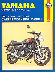 1976 - 1985 Yamaha XS750, XS850 Haynes Repair Manual