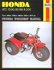1971 - 1981 Honda ATC70, ATC90, ATC110, ATC185, ATC200 Haynes ATV Owners Workshop Manual