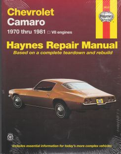 1970 - 1981 Chevrolet Camaro Haynes Repair Manual