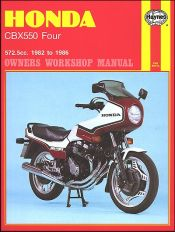 1982 - 1986 Honda CBX550 Four Haynes Repair Manual