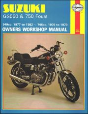 1977 - 1982 Suzuki GS550, 1976 - 1979 GS750 Haynes Repair & Service Manual