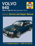 1990 - 1998 Volvo 940 Haynes Repair Manual Gas