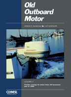 1955 - 1969 Below 30 HP Old Outboard Motor Clymer Repair Manual