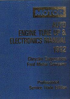 1989 - 1992 MOTOR Auto Engine Tune Up & Electronics Manual for Chrysler & Ford Cars