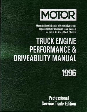 1993 - 1996 MOTOR Light Truck Engine Performance & Drivability Manual, 1st Edition