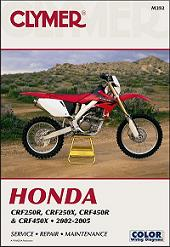 2002 - 2005 Honda CRF250R, CRF250X, CRF450R & CRF450X Clymer Repair Manual
