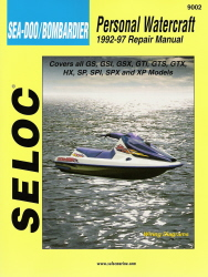 Sea-Doo/Bombardier Repair Manual 1992 - 1997 by Seloc