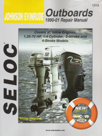 1990 - 2001 Johnson / Evinrude Outboards 1-4 Cylinder, All Inline Engines Seloc Repair Manual