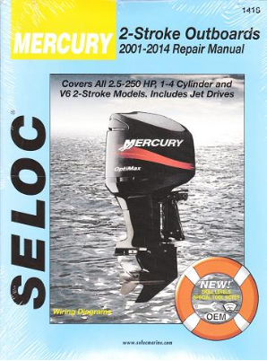 2001 - 2014 Mercury 2-Stroke  Outboard Engines Seloc Repair Manual