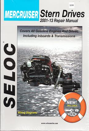 2001 - 2013 Mercruiser Sterndrives: All Gasoline Engines, Drive Systems, Inboards and Transmissions Seloc Repair Manual