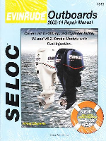 2002 - 2014 Evinrude Outboards all 15.0 - 300 HP 2,3 Cylinder and V4, V6 Models Seloc Repair Manual