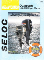 1992 - 2013 Nissan / Tohatsu  2.5-140 hp 2 and 4 Stroke Models , Including EFI & TLDI Outboard Seloc Repair Manual