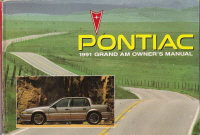 1991 Pontiac Grand Am Owner's Manual