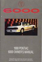 1990 Pontiac 6000 Owner's Manual