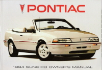 1994 Pontiac Sunbird Owner's Manual