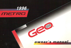 1996 Geo Metro Factory Owner's Manual