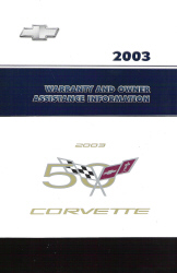 2003 Chevrolet Corvette Factory Owner's Portfolio