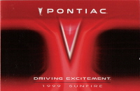 1999 Pontiac Sunfire Owner's Manual