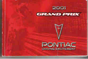 2001 Pontiac Grand Prix Owner's Manual