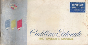 1967 Cadillac Eldorado Owner's Manual
